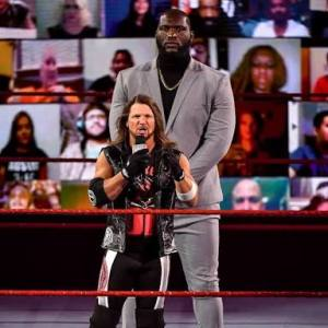 Jordan Omogbehin and Roman Reigns in the ring sports - 20201124 170650 300x300 - Sports: Meet Jordan Omogbehin,the 7-feet-tall Nigerian wrestler set to takeover WWE sports - 20201124 170650 - Sports: Meet Jordan Omogbehin,the 7-feet-tall Nigerian wrestler set to takeover WWE