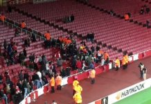Arsenal welcome fans into Emirates stadium for the first time in 9 months