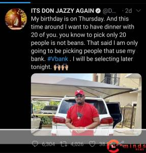 Don Baba J auto draft - Screenshot 20201126 090021 1 287x300 - Don Baba J: Don Jazzy 37th birthday to be celebrated in grand style auto draft - Screenshot 20201126 090021 1 - Don Baba J: Don Jazzy 37th birthday to be celebrated in grand style