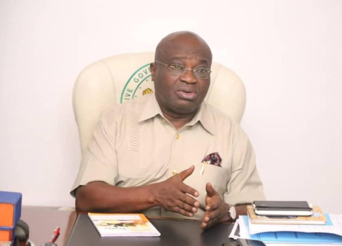 Ikpeazu suspends chief of staff abia state governor suspends top aide for spraying money on popular cleric in office - 20201206 170911 - Abia State Governor suspends top aide for spraying money on popular cleric in office