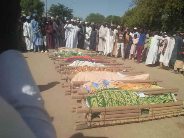 - 20201213 070324 - Tears Flow at Burial of 10 Youths Who Died in Road Accident on Their Way to Write Navy Examination