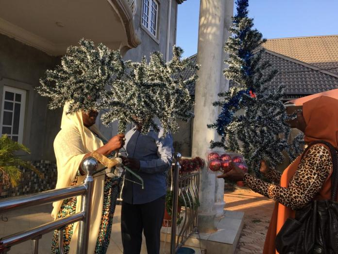 - 20201217 181728 - Muslim Woman Decorates Reverend's House With Christmas Trees in Kaduna State