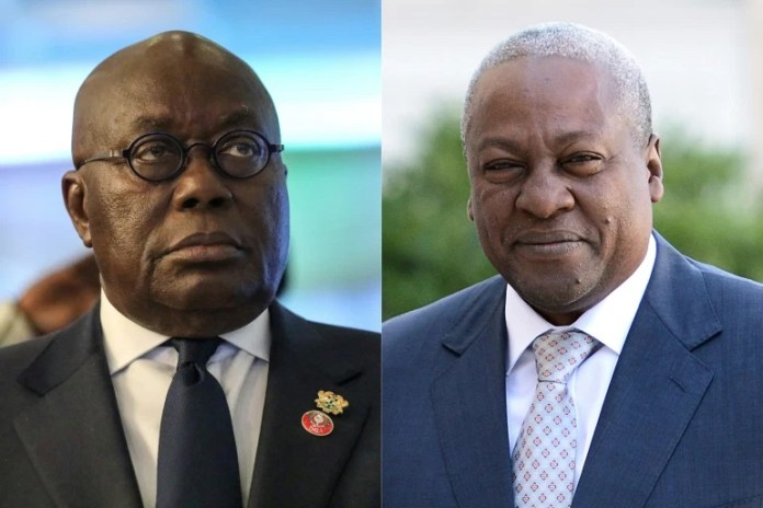former ghana president says election result is 'fictionalized, imperfect' - Akufo Addo Mahama - Former Ghana president says election result is 'fictionalized, imperfect'