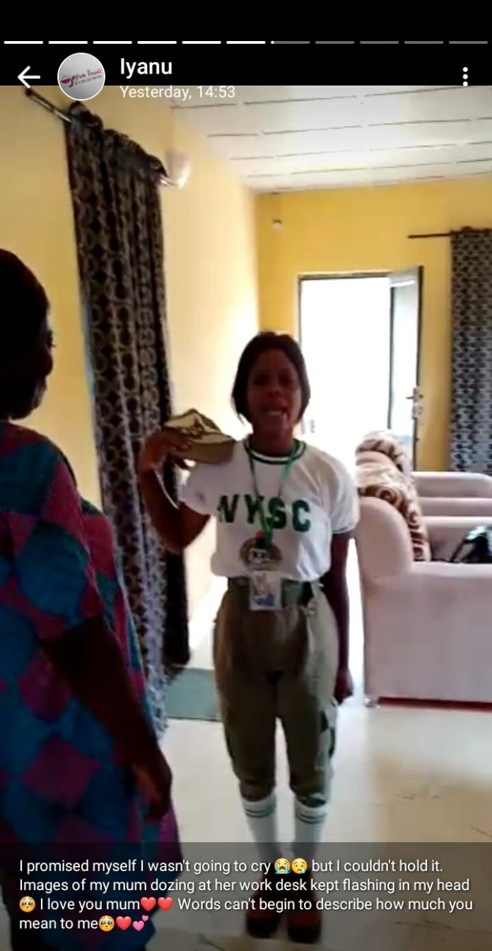 Reactions Trails Heart Warming Video of A Female Youth Corp Member Saluting Her Mom female youth corp member - Ep6jlNBXUAAVbUT - Reactions Trails Heart Warming Video of A Female Youth Corp Member Saluting Her Mom