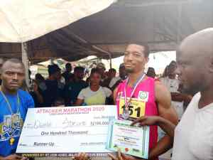 Deaf and dumb Ogunde Adeleye came second with a N100,000 cash reward in the male category  sports - IMG 20201228 WA0134 300x225 - Sports: Reps Deputy Minority, Adekoya, to sponsor 5-year-old athlete's education, gives N20,000 cash reward sports - IMG 20201228 WA0134 - Sports: Reps Deputy Minority, Adekoya, to sponsor 5-year-old athlete's education, gives N20,000 cash reward