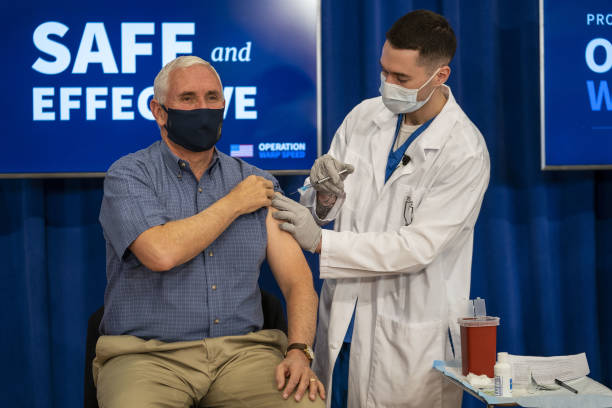 Vice President Mike Pence Gets Vaccinated On Live TV mike pence - gettyimages 1230191873 612x612 1 - Mike Pence Gets Vaccinated On Live TV