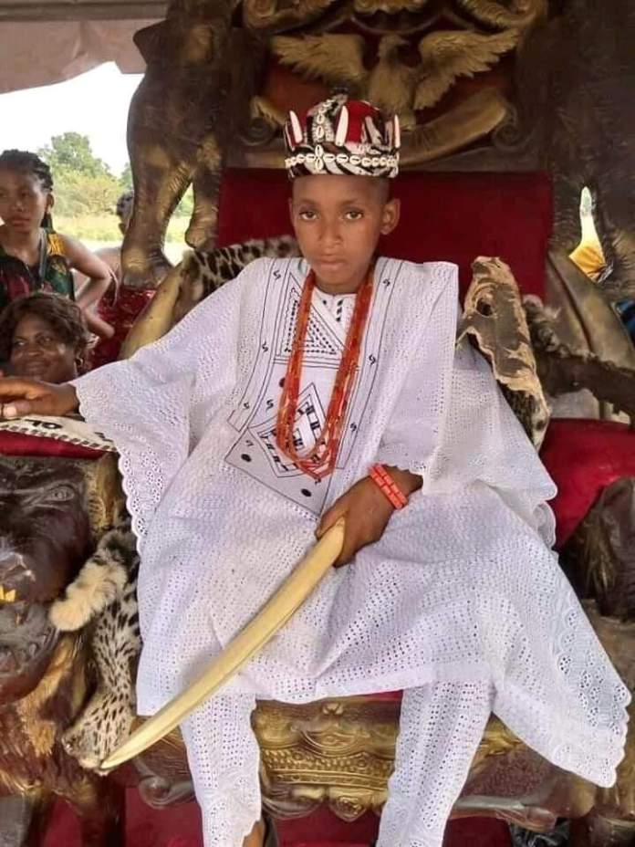 10-year-old boy becomes the youngest monarch in anambra - 10 year old boy - 10-Year-Old Boy Becomes The Youngest Monarch In Anambra