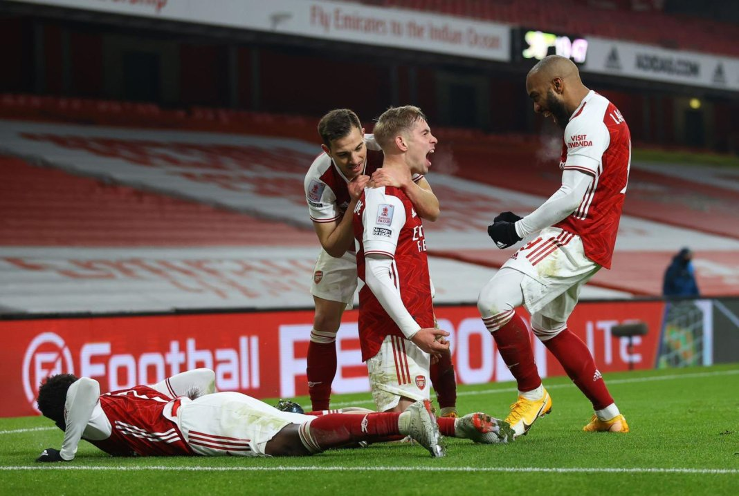 Emile Smith Rowe named FA Cup third round player  - 20210114 154325 - Football: Arsenal Youngster named FA Cup Player of the round