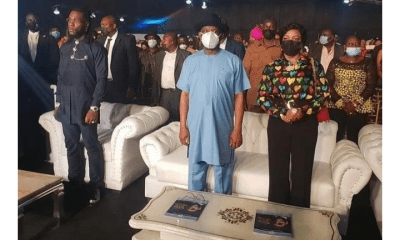 Nyesom Wike hosts Burna Boy, other Rivers State artistes after his Grammy Award win homecoming - 20210328 183407 - Homecoming: Burna boy gifts hundreds of Rivers people food packs