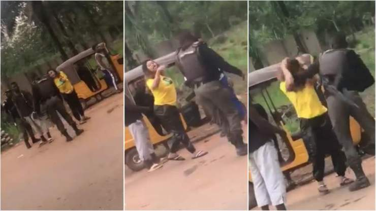 Police beaten young lady at checkpoint in Enugu  police beaten young lady at checkpoint in enugu  - Police beaten young lady at checkpoint in Enugu video - Police beaten young lady at checkpoint in Enugu