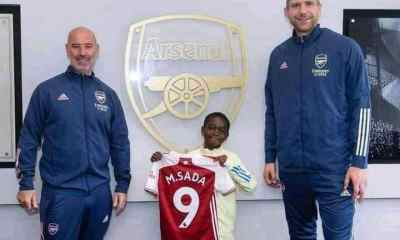nine-year-old boy from nigeria joins arsenal - Sada Arsenal - Nine-year-old boy from Nigeria joins Arsenal