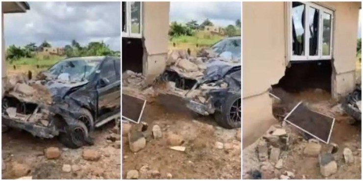 cash wash man crashes a client mercedes benz on the way to buy soap while driving it  - cash wash man crashes clients mercedes benz in hile driving it to buy soap video - Cash wash man crashes a client Mercedes Benz on the way to buy soap while driving it