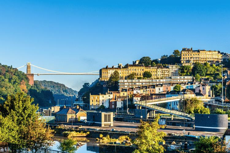 Bristol and the famous Clifton suspension bridge