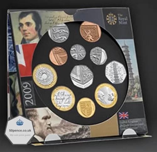2009 kew gardens 50p bu coin set