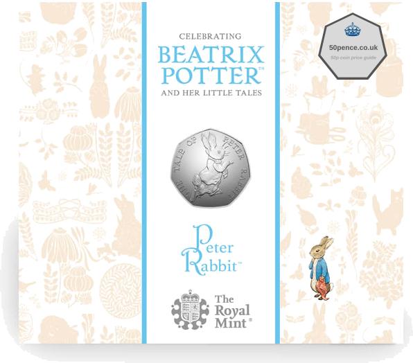 2017 Peter Rabbit 50p BU Coin Pack