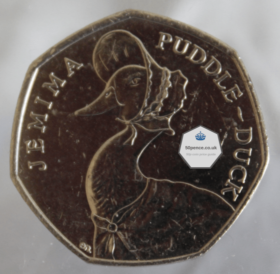 Jemima Puddle-Duck 50p circulated
