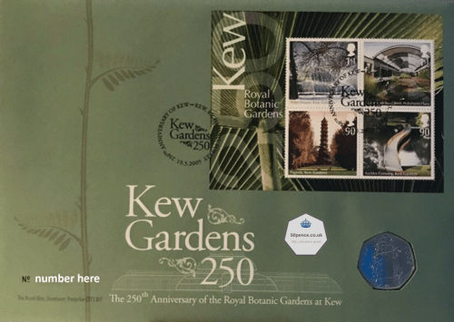 Kew Gardens Philatelic Numismatic Cover