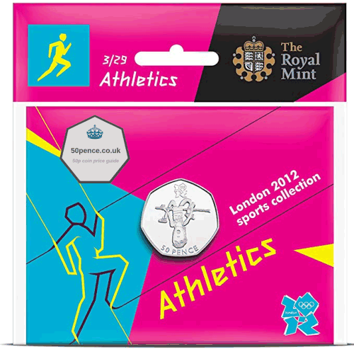 athletics 50p BU