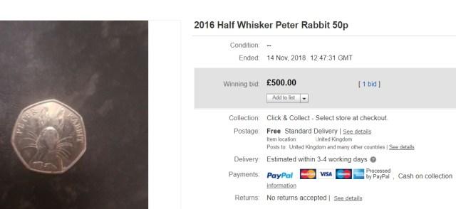 half whisker peter rabbit 50p