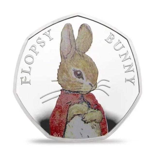 Flopsy Bunny 50p Silver Coin