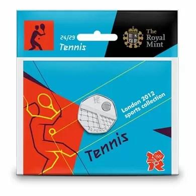 Tennis 50p coin