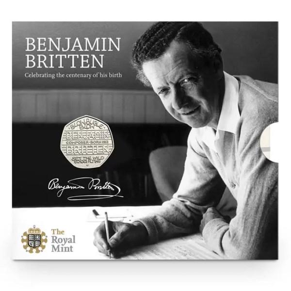 Benjamin Britten 50p Brilliant Uncirculated