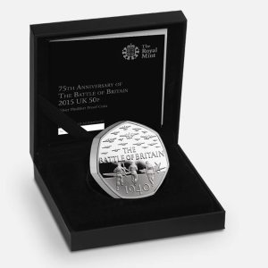 2015 Battle of Britain Silver Proof Piedfort Coin
