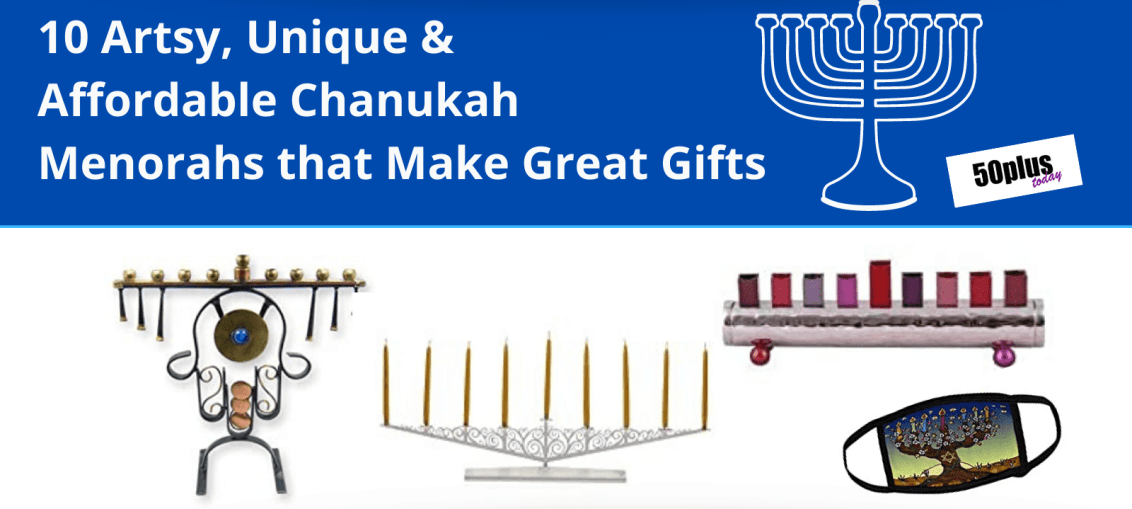 handcrafted menorahs