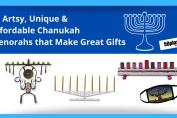 handcrafted menorahs