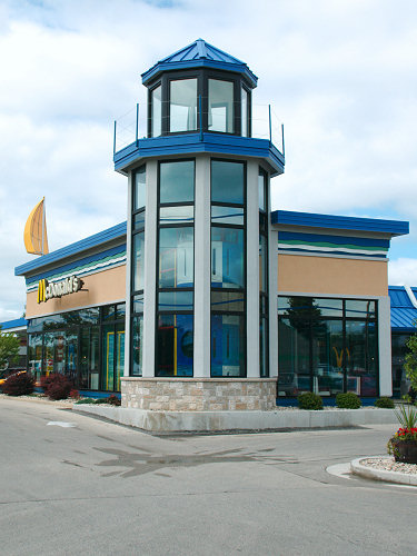 Yep.... this is a lighthouse themed McDonald's...