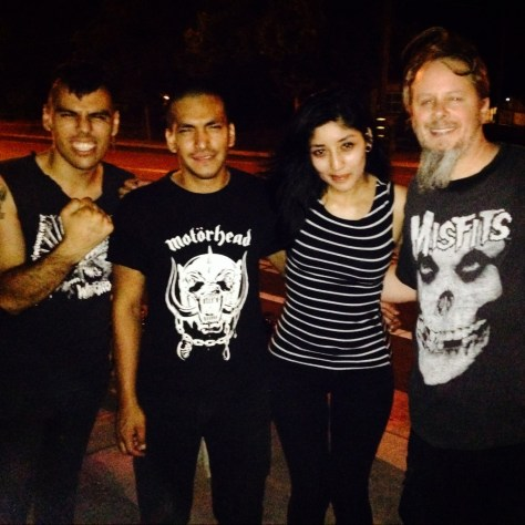 ElDorkoPunkRetro with 3/4th of Generacion Suicida at the Cafe Colonial show in Sacramento on July 26th of 2014.