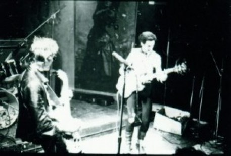 Sonny Vincent with Gene Sinigalliano performing at CBGB as Testors