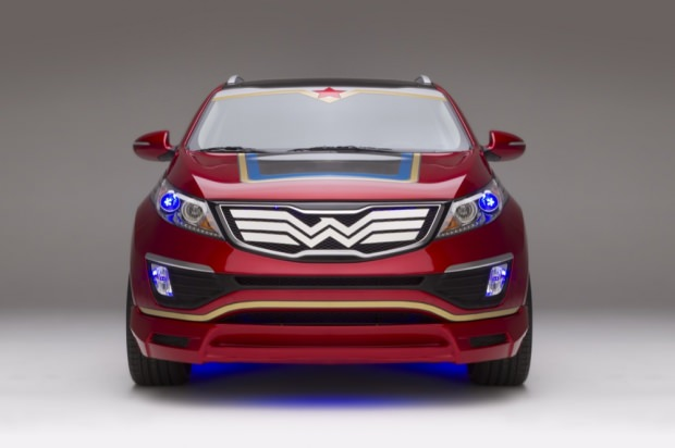 Wonder Woman Kia front