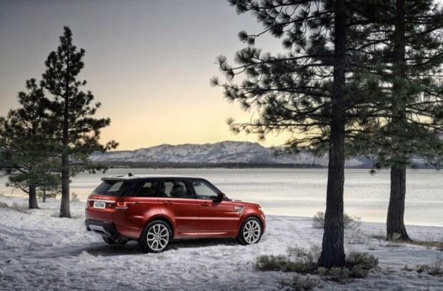 New Range Rover Sport snow