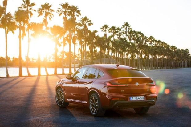Ex-demo BMW X4 car facing into the sun