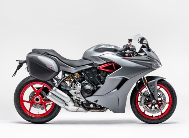 Ducati Supersport side with panniers