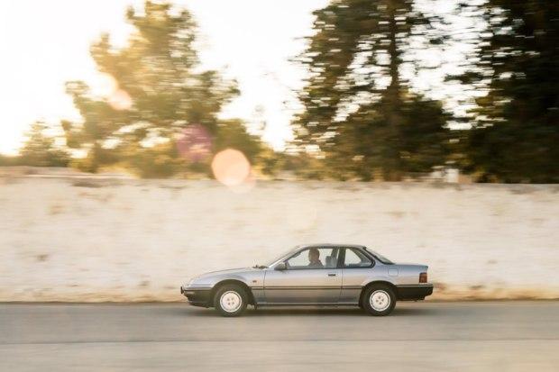 Honda Prelude driving