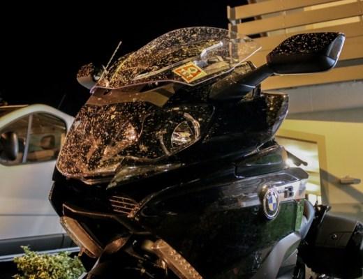 Bug spattered bike