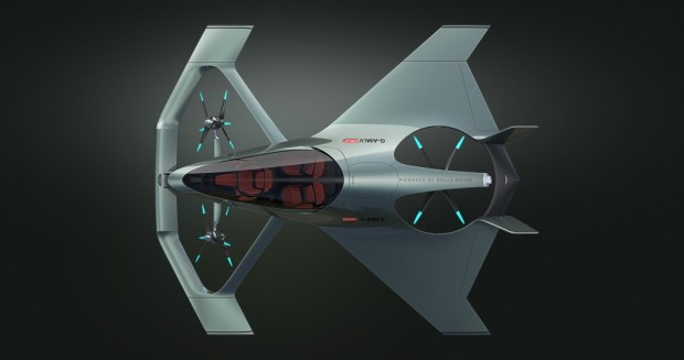 Aston Martin Volante Vision Concept overhead view