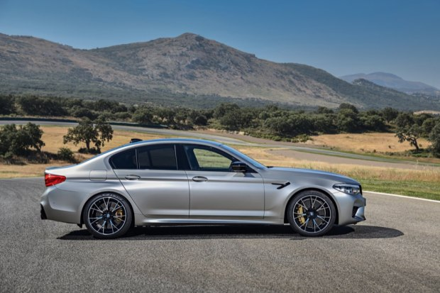 BMW M5 Competition side profile