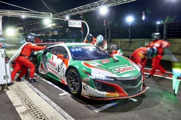 Honda NSX race car in pits