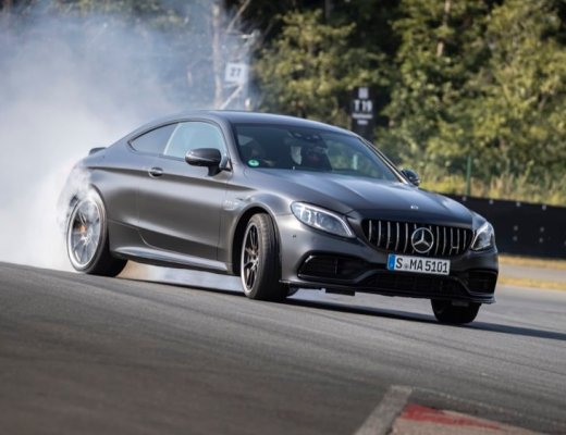 Mercedes-AMG C 63 S coupe drifting