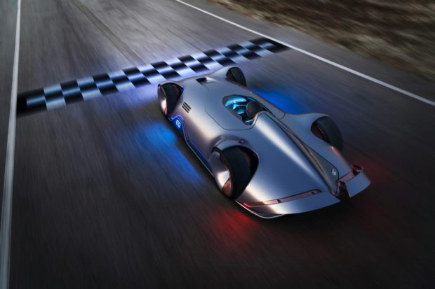 Mercedes-Benz Vision EQ Silver Arrow top view