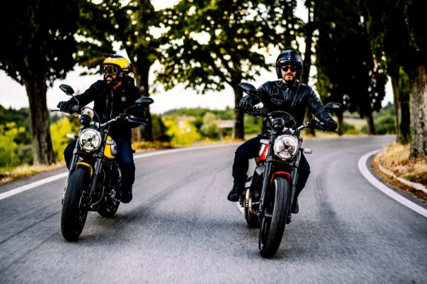 Ducati Scrambler Icon riding together