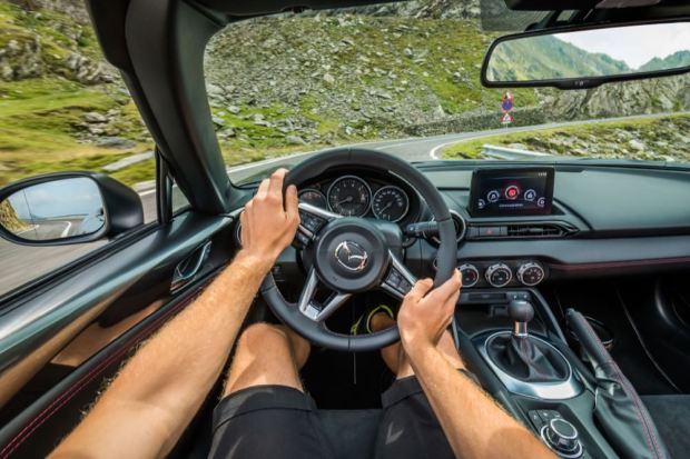 Mazda MX-5 driving view