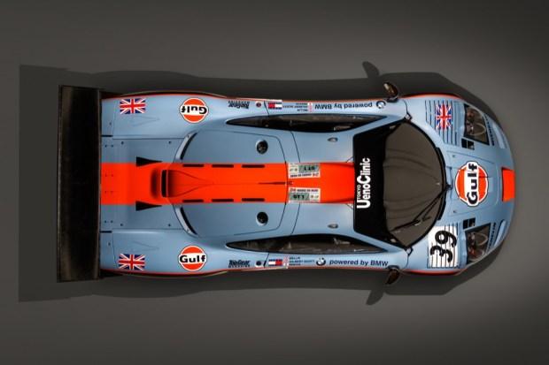 McLaren F1 GTR overhead view