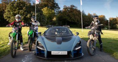 McLaren Senna with motocross bikes