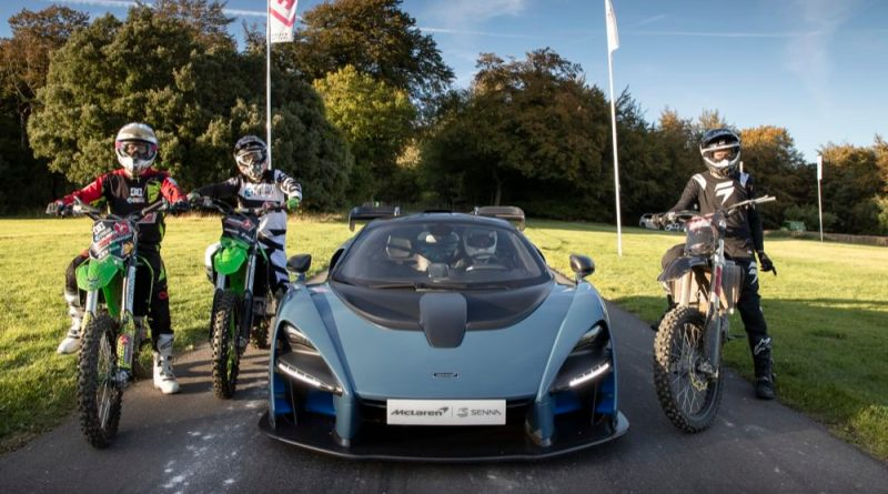 McLaren Senna with motocross bikes