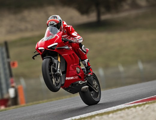 Ducati Panigale V4 R on track
