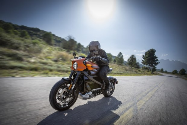 Harley-Davidson LiveWire riding